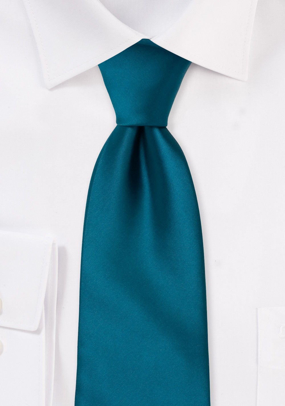 Solid Kids Neck Tie in Turquoise  Blue