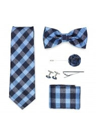 gingham check menswear gift set