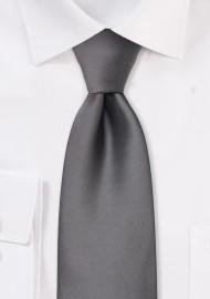 Solid gray necktie