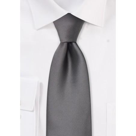 Solid Gray Kids Tie
