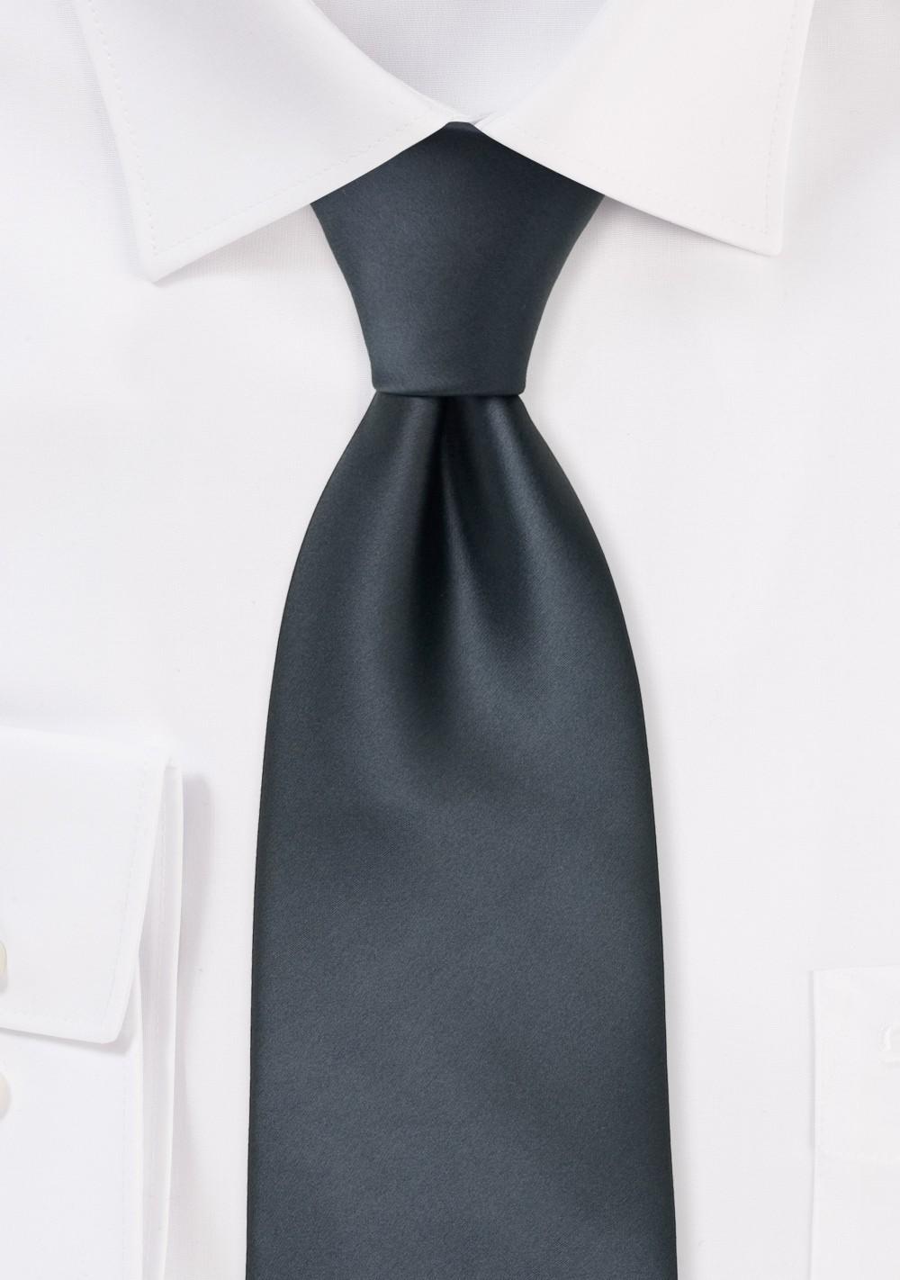 Solid color neckties - Smoke gray tie