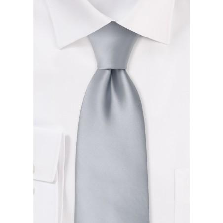 Formal neckties - Solid color silver necktie