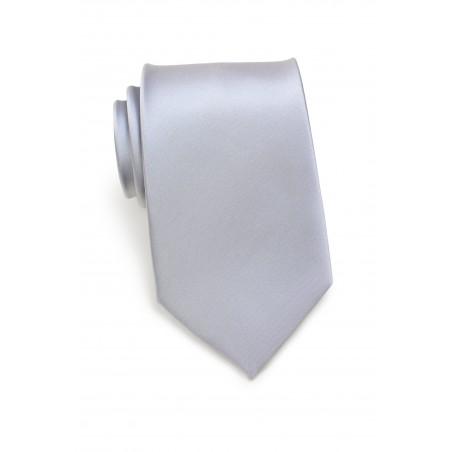 Extra long ties - Solid silver XL necktie
