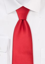 Solid Bright Red Necktie for Kids