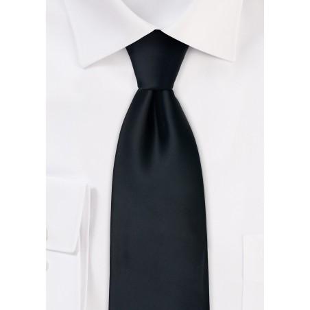 Extra long black tie - Formal XL necktie in black