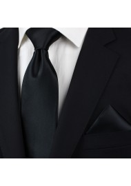 Solid Black Necktie in Kids Size Styled