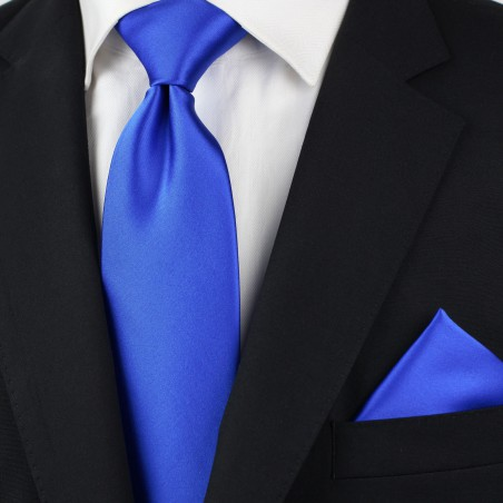 Marine Blue Tie in Long Length Styled