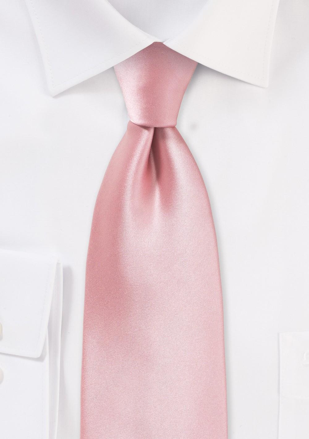 Petal Pink Hued Tie for Tall Men