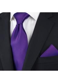 Regency Purple Tie in Extra Long Styled