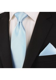 Extra long ties - Light blue XL necktie styled
