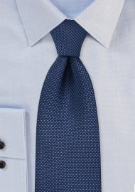 Navy Tie with Grenadine...