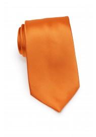 Solid Mens Tie in Persimmon Orange