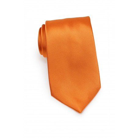 Kids Tie in Persimmon Orange