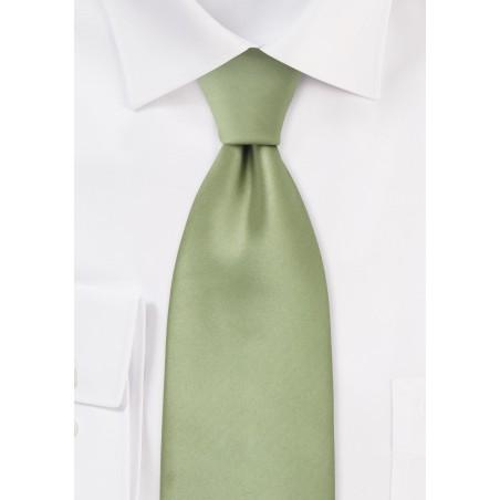 Extra Long Light Jade Green Tie
