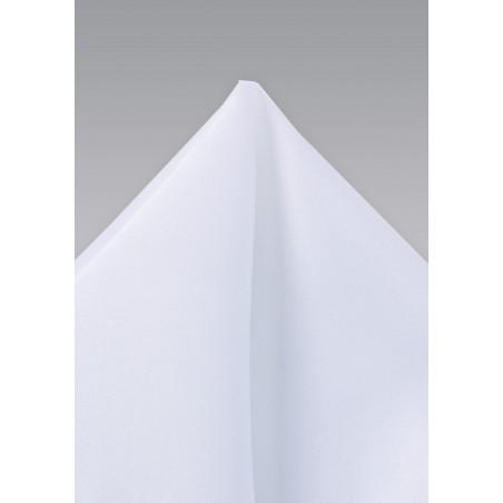 Solid White Pocket Square