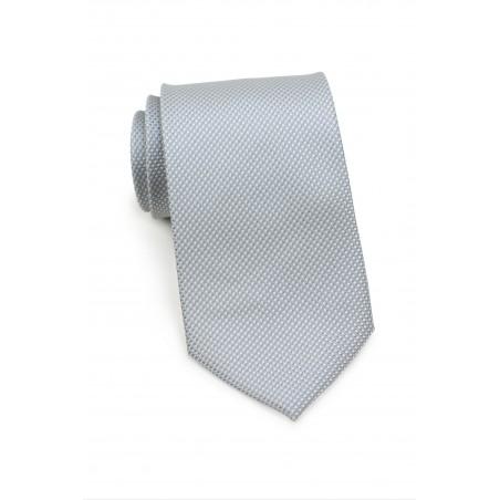 Silver Kids Necktie with Micro Diamond Checks