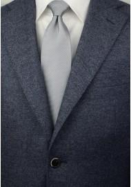 Xl Length Silver Tie with Micro Diamond Checks Styled