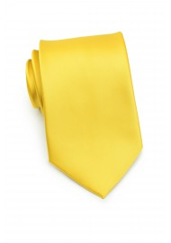 Sunbeam Yellow Necktie in XL Length