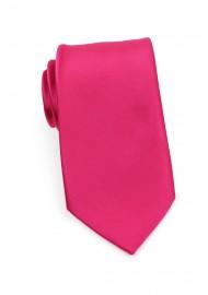 Solid Magenta-Pink Necktie