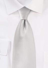 Solid Color Tie in Light Silver