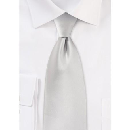 Light Platinum Silver Tie Made for Kids