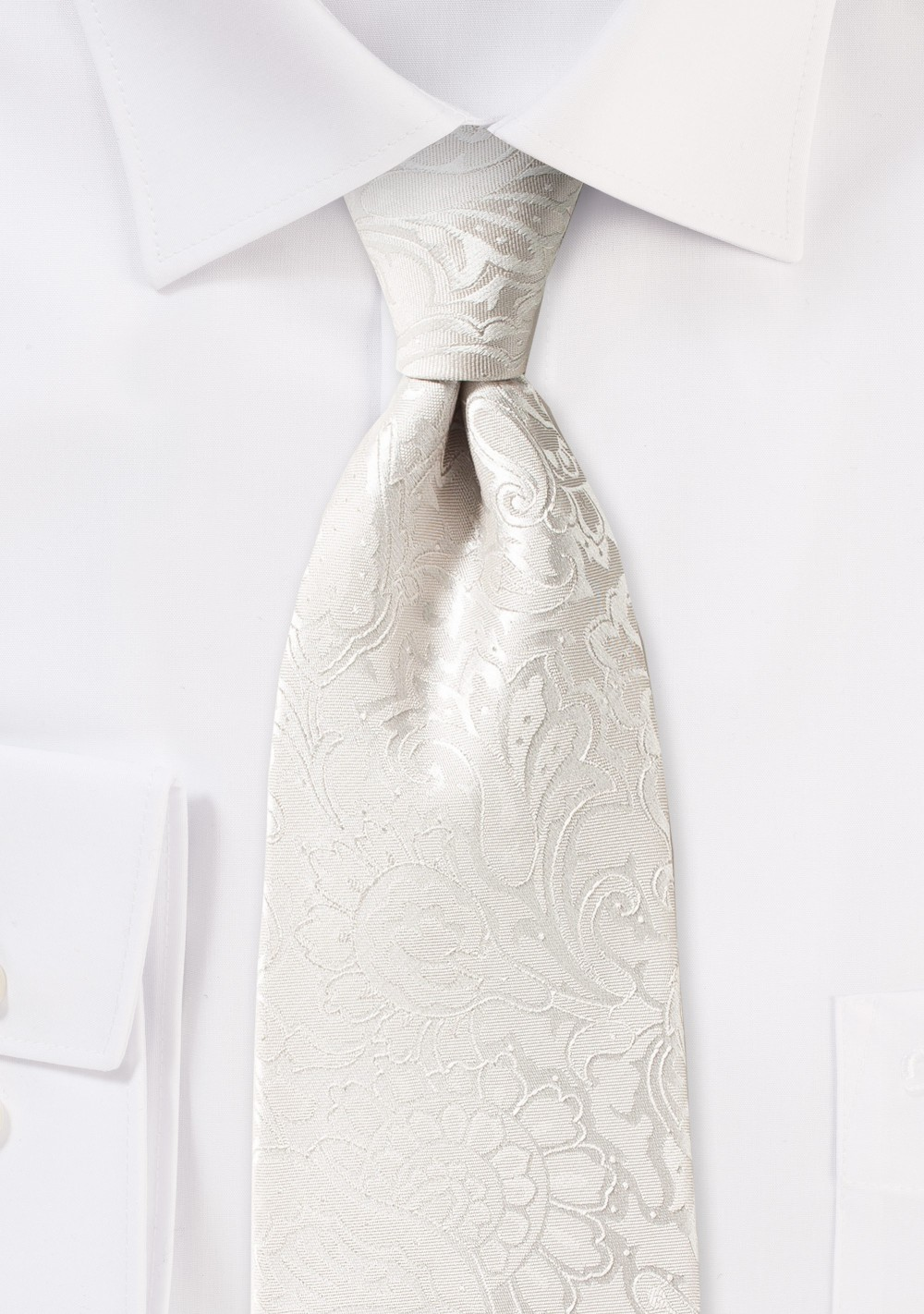 Paisley Necktie in Light Ivory