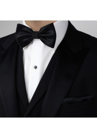 Pre-Tied Black Bow Tie Styled