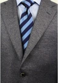 Elegant Navy Striped Necktie Styled