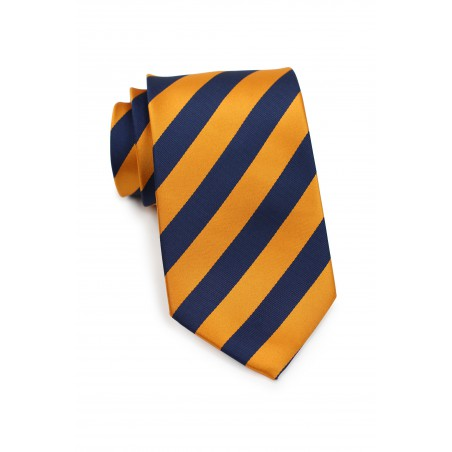Regimental Orange and Navy Tie