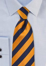 Regimental Orange and Navy Kids Tie