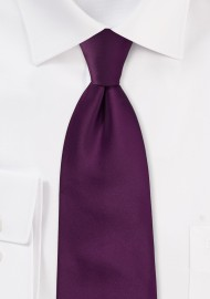 Bright Purple Necktie in XL Size