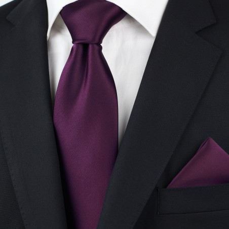 Bright Purple Necktie in XL Size Styled