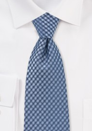 Blue Micro Check Kids Tie