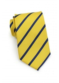 Regimental Yellow and Navy Striped Tie