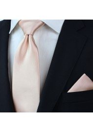 Antique Blush Mens Tie in XXL Size Styled
