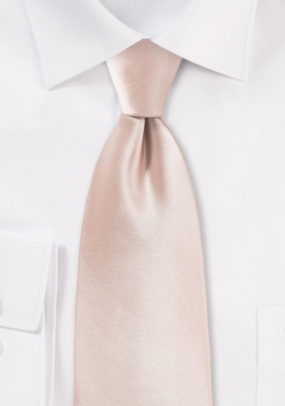 Solid Necktie in Antique Blush