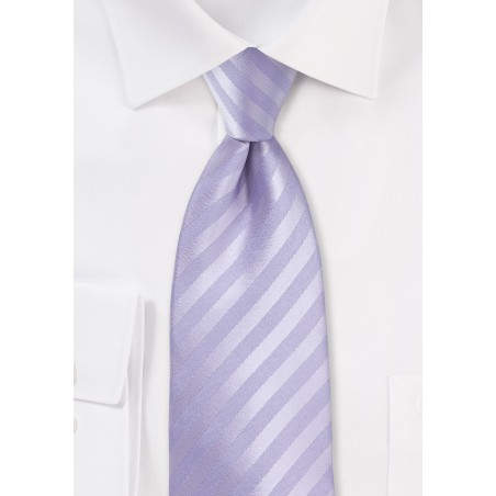 Solid Striped Tie in French Lavender