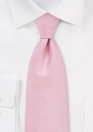 Pink Grenadine Textured Tie in XL Length