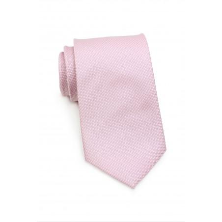 Pink Grenadine Textured Tie in XL Length