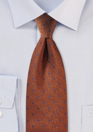 Textured Polka Dot Tie in Copper
