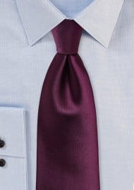 Kids Tie in Plum