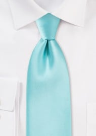 Light Turquoise Blue XL Length Tie