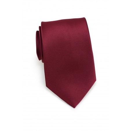 Wine Red Colored Necktie