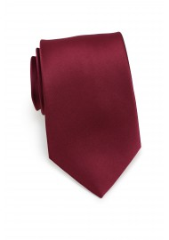 Wine Red Kids Tie in Solid Satin