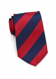 Navy and Red Necktie
