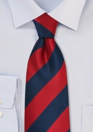 Navy and Red Necktie for Kids