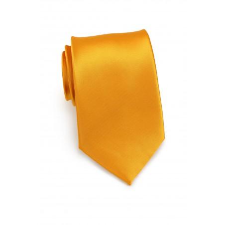 Extra Long Tie in Golden Saffron
