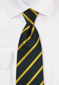 Midnight Blue and Golden Striped Kids Tie