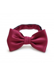 Toddler Bow Tie in Burgundy