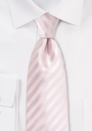 Solid Striped Kids Tie in Blush Pink